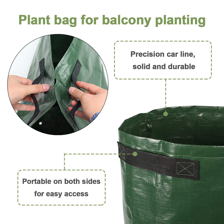 Potato Cultivation Planting Woven Fabric Bags Garden Pots Planters Vegetable Planting Bags Grow Bag Farm Home Garden Tool D30