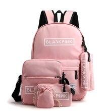 Canvas Backpack Waterproof  Teenager School  Japanese Style Women Large Capacity Travel Set Bag