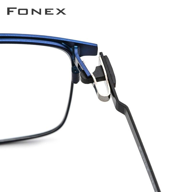Alliage lunettes de Prescription hommes ultralégers carré myopie lunettes 2019 mâle monture optique complète sans vis lunettes - 4