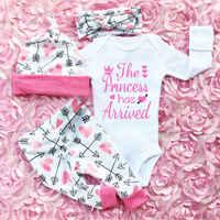 4pcs/set Pudcoco Girl Suits Newborn Infant Baby Girls Clothes Playsuit Romper Pants Outfit Set