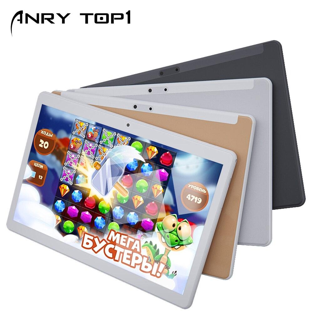 Jeu 4G Lte Android tablettes PC 10.1 pouces WiFi GPS Bluetooth Octa Core 64GB ROM 4GB RAM double carte Sim 4G réseau