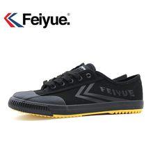 Sapatos de tênis clássicos originais pretos feiyue, artes marciais taichi taekwondo wushu kungfu macio e confortável