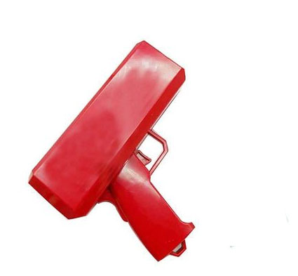 Make It Rain Money Gun Cash Cannon Super Plastic Pistol Electric Burst Bar Spray Dollar Gun Christmas Party Game Outdoor Fun Toy