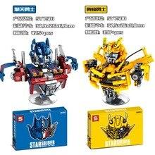 ¡Novedad de 2020! Robot de bloques de construcción de transformación de abejorro Optimus Prime soldado estrella para regalos infantiles