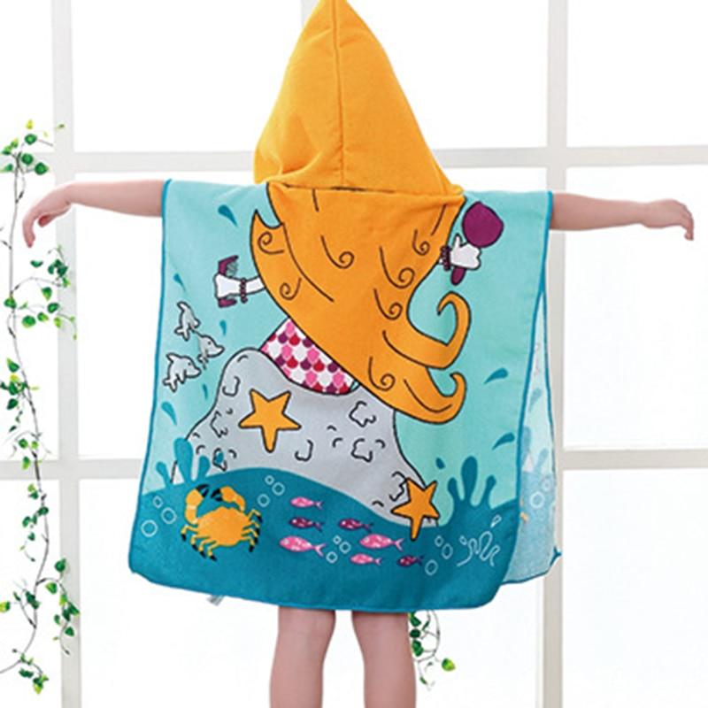 DIDIHOU Toddler Hooded Beach Bath Towel For Boys Kids Cartoon Soft Swim Pool Coverup Poncho Cape