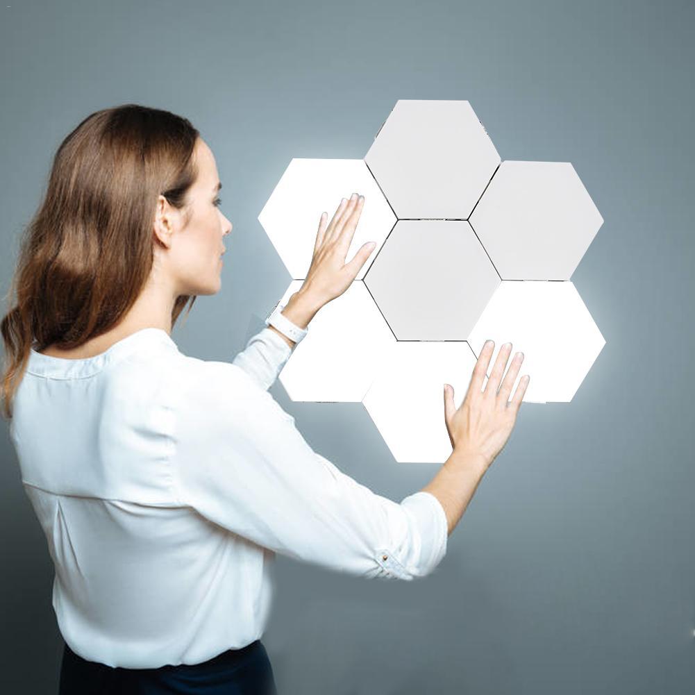 Quantum Lamp Led Touch Wall Lamps Hexagonal Magnetic  Modular Sensor Night Light Creative Diy Decor Lamp For Restaurant Marrying