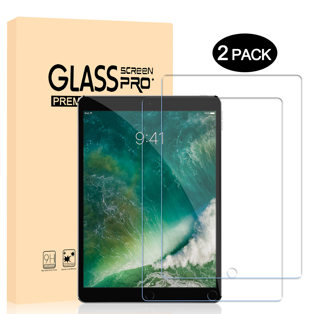 2pcs Tempered Glass for iPad 10.5 9H Screen Protector Flim For iPad10.5 Toughned Tablet Protective
