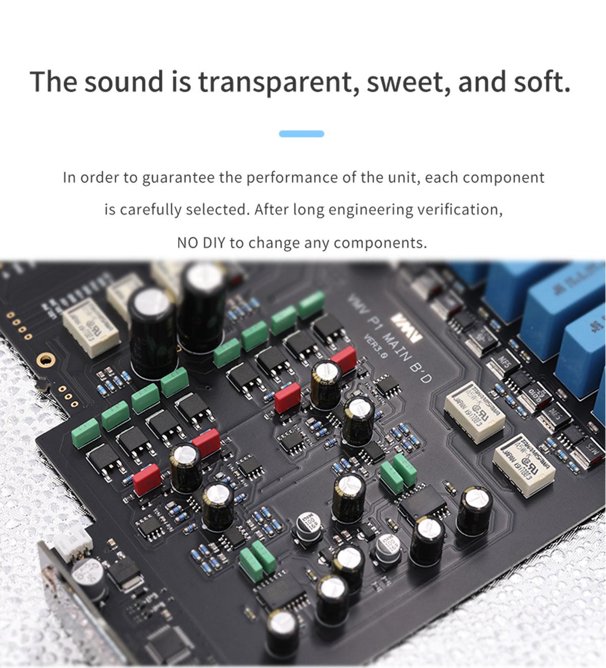 hi-end desktop totalmente equilibrado amplificador de auscultadores de áudio de alta fidelidade
