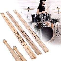 2 sztuk Hickory amerykański klasyk 5A/5B/7A pałeczki do perkusji drewna porady dostaw instrumentów podudzia muzyczne kije Instrument perkusyjny