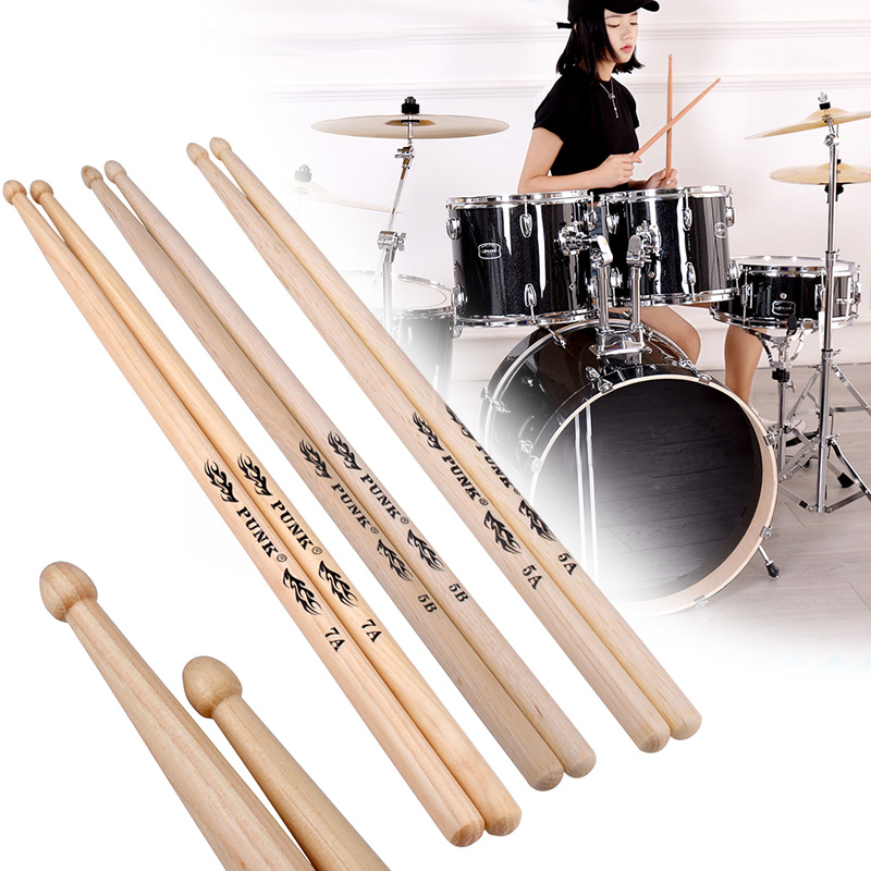 Drum Stick Hickory Professional Walnut Musical Instruments One Pair For Supply