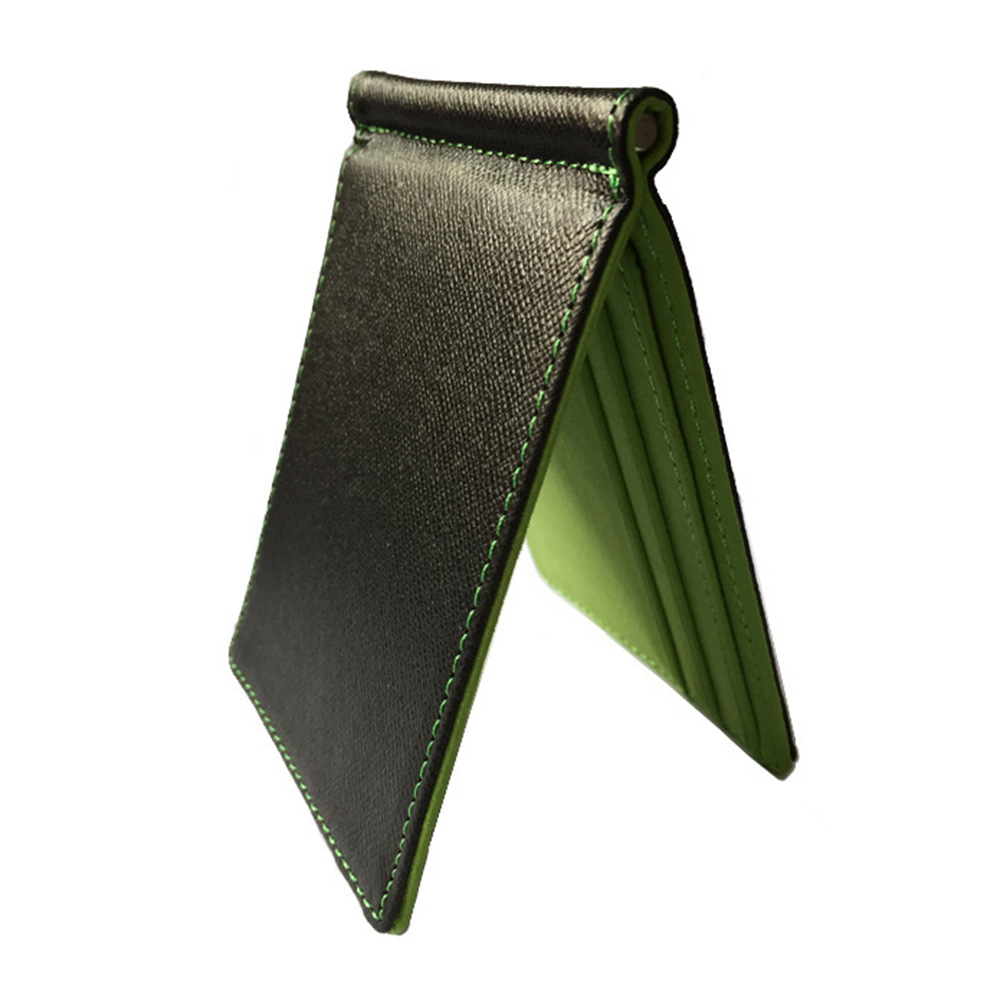 Men Wallet Portable Soft Durable Square Card With Money Clip Gift Thin PU Leather Space Saving Solid Flip Cover Multifunction