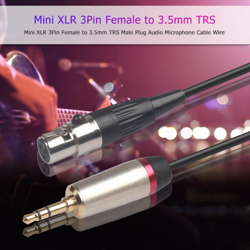 Cable Adapter Full Copper Core With Aluminum Foil Shield Mini XLR Female To 3.5mm TRS Stereo Male Jack Lead Audio Video Hot Sale