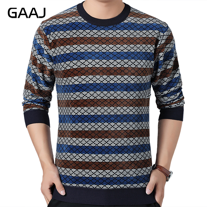 HISTREX Striped Thick Warm Winter Striped Knitted Pull Sweater Men Wear Dress Pullover Knit Mens Sweaters Fashion Man Sweater