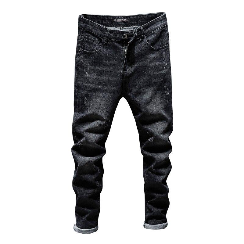 Hot Sales Men Korean-style Slim Fit Elasticity Skinny Pants Teenager Fashion Cowboy Trousers
