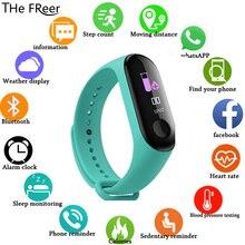 Фитнес M3, цветной экран, умный спортивный браслет, трекер для занятий бегом, пульсометр для детей, мужчин, женщин, часы для IOS, Android