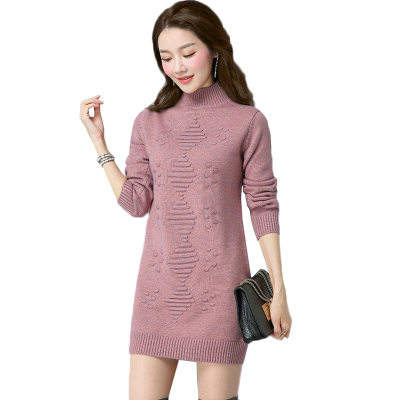 Women Knit Sweater Pullover Autumn And Winter Clothes Solid Long Sleeve Turtleneck Sweater Warm Knit Bottoming Shirt Female Tops