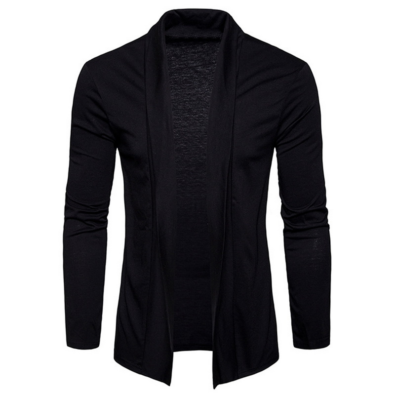 NEGIZBER 2019 Autumn Mens Cardigan Solid Slim Fit Long Cardigan Sweater Men Fashion 100 Cotton Cardigan Men Streetwear US Size