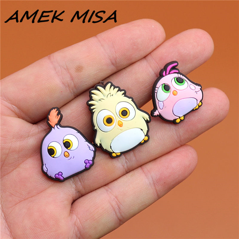 Single Sale 1pcs Original Shoe Charms Cartoon Cute Chick Garden Shoe Accessories Buckle Decorations Fit For Croc JIBZ Kids Gift