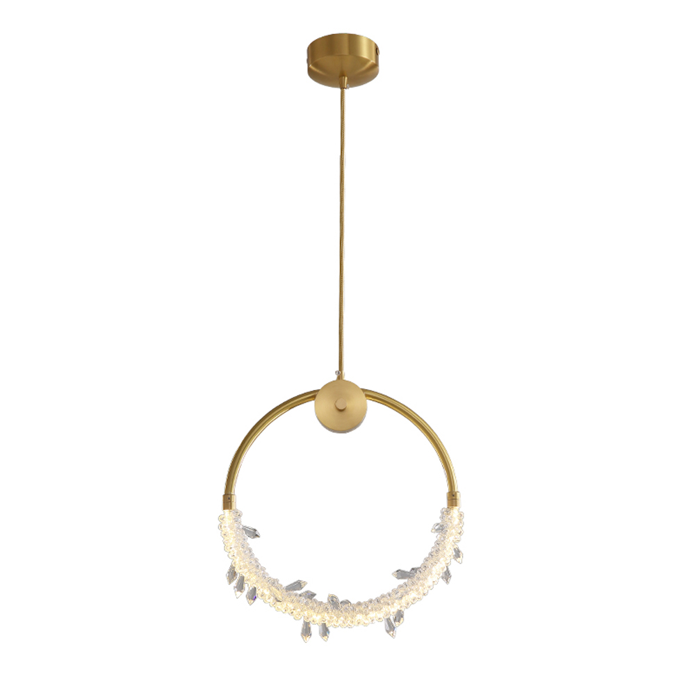 Europen Style Gold Crystal Chandelier Lighting AC 220V Changeable LED Bedroom Lamp Bar Lights