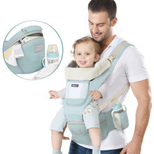 New Breathable Backpack Portable Infant Ergonomic Baby Carrier Baby Carrier Kangaroo Hipseat Heaps Baby Sling Carrier Wrap 0-48M(China)
