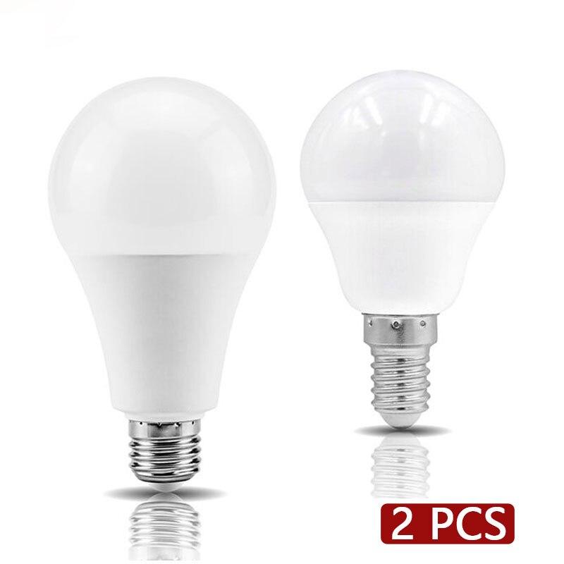2 шт. светодиодный светильник E27 E14 3 Вт 6 Вт 9 Вт 12 Вт 15 Вт 18 Вт 20 Вт Светодиодный светильник Холодный теплый белый светильник AC 220 В 230 в 240 В точеч...