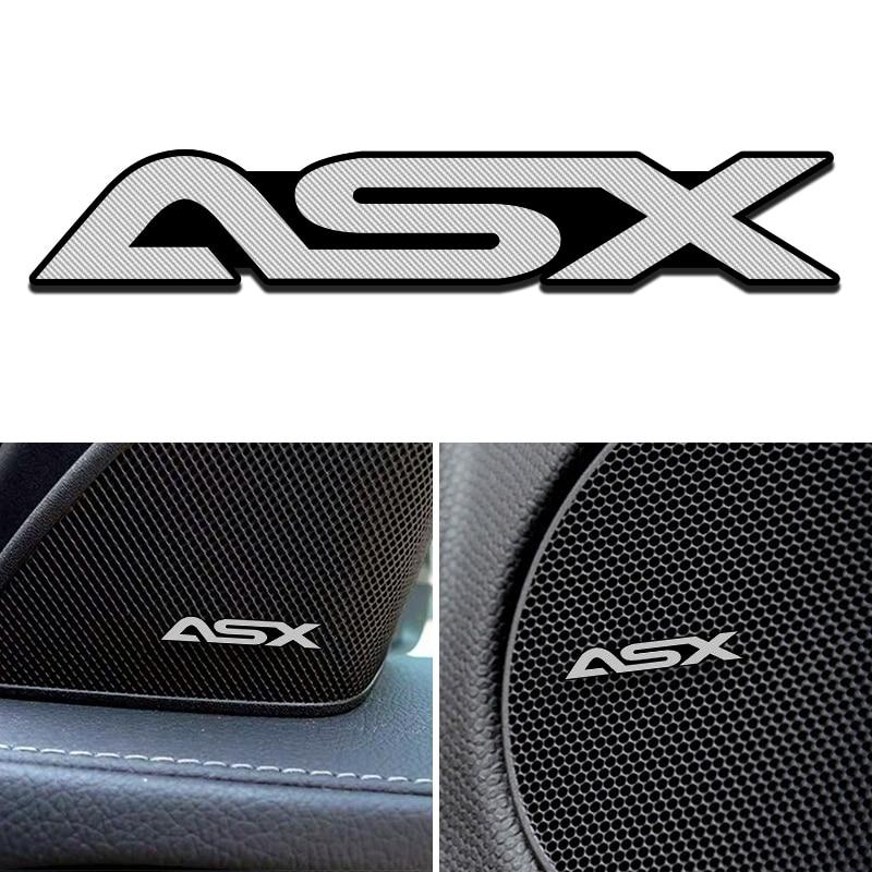 3D Car Speaker Stereo Aluminum Badge Emblem Sticker For Mitsubishi ASX Outlander Pajero Lancer Car Accessories Styling