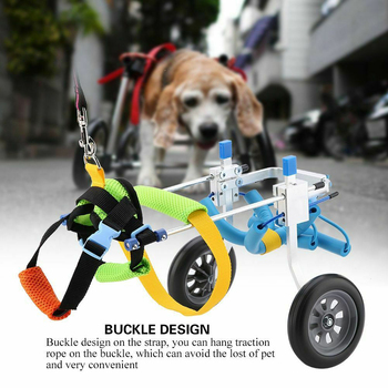 Accessories Pet Wheelchair Adjustable Disabled Dog Home Assisted Walking Heath Care Hind Leg Handicapped Cat DIY Aluminium Alloy