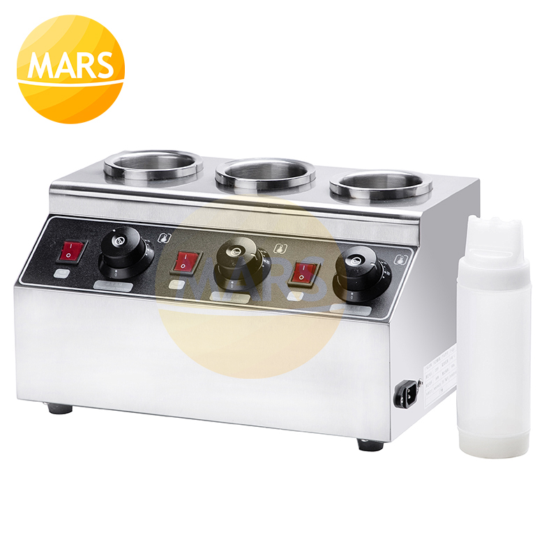 Drop-In Heated Topping Dispenser Melter Commercial Electric Bottles Sauce Warmer Hot Chocolate Cheese Jams Warming Machine