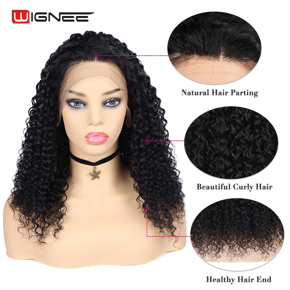 Wignee 13*4 Lace Front Curly Human Hair Wigs With Baby Hair For Women Pre Plucked Hairline Brazilian Remy Hair Lace Human Wigs