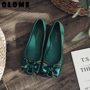 Image 5 - Sandalias de verano para mujer, zapatos de primavera para mujer, calzado de cabeza, zapatos de gelatina, zapatos de Boca de pescado con lazo a la moda, novedad de 2019