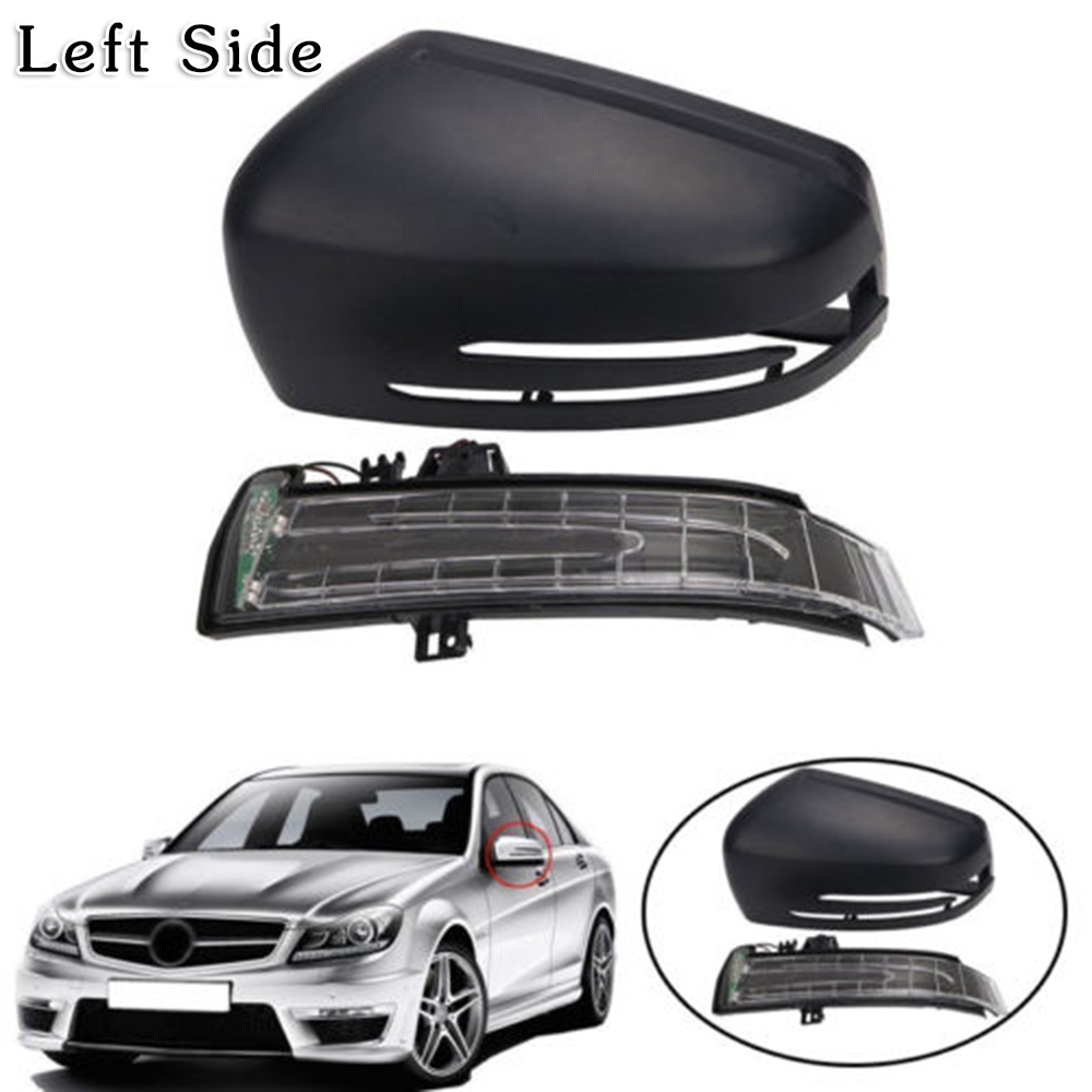 L+R Rearview Mirror Housing Covers For BENZ S-CLASS W221 C-CLASS W204 CLS C218