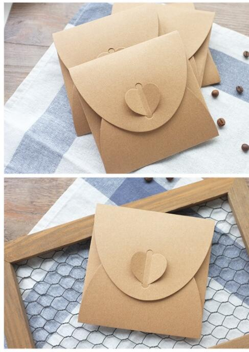 50pcs/lot Square Love Two Style Discs CD Storage Tray For Card Scrapbooking Gift Kraft Wedding Invitation Cards