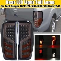 Pair Car LED Rear Tail Light Assembly Red for FORD RANGER RAPTOR T6/T7/PX/MK1/MK2/WILDTRAK 2012 2013 14 2019 Car Light Assembly