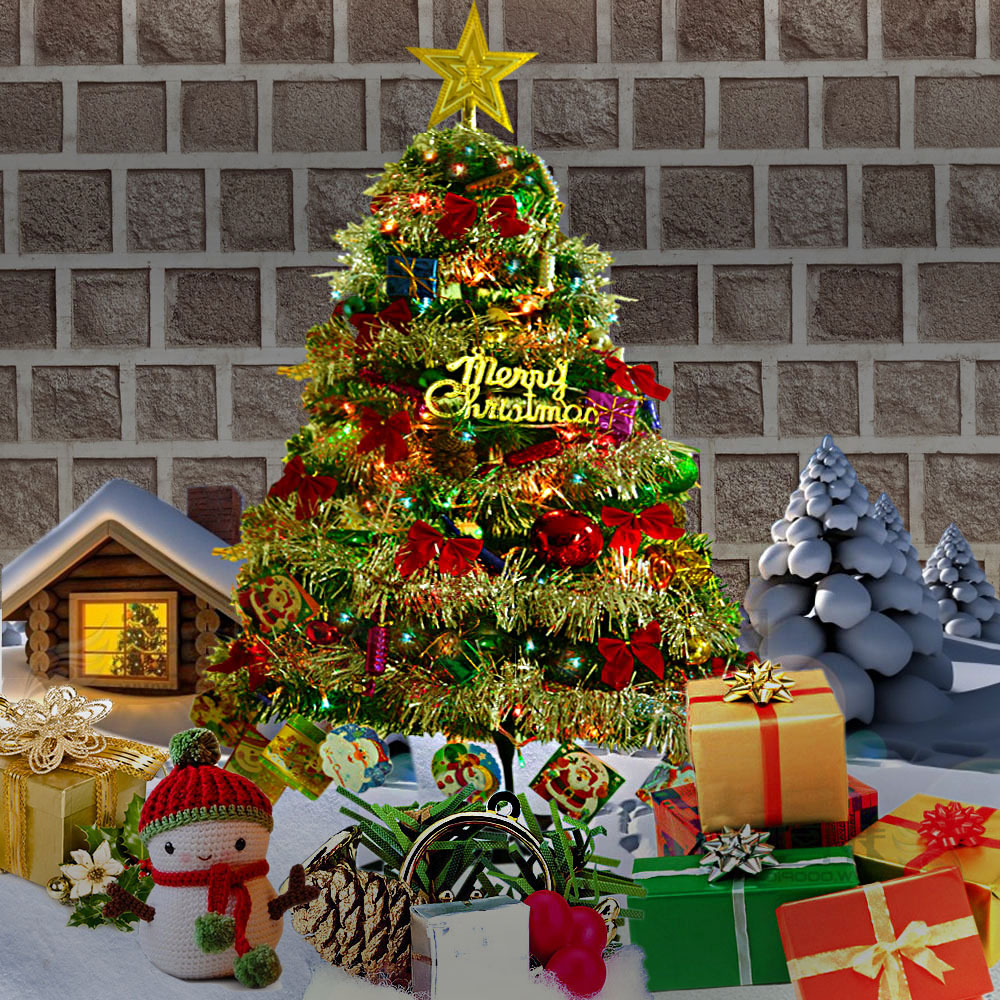 Cross-border Sale Christmas Tree 120CM Bar Costume Tree KTV Office With Lamp Accessories Clearing Warehouse Ornaments For Home