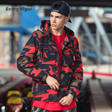 2019 Windjack Camo Jas mannen Hooded Bovenkleding Casual mannen Outdoor Overjassen HipHop streetwear Top 4XL мужское пальто(China)