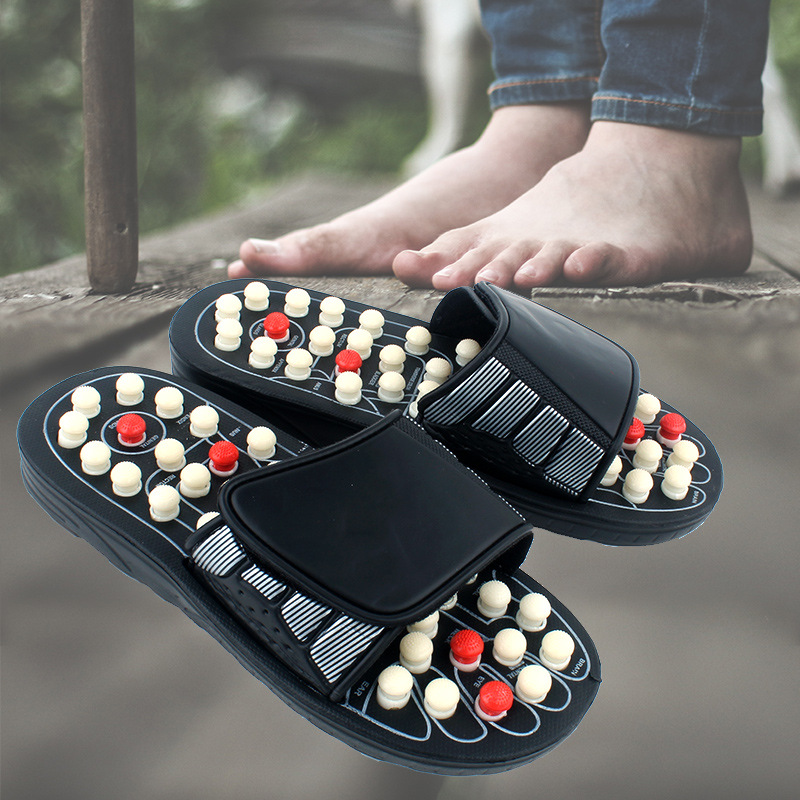 Acupoint Massage Slippers Sandal For Men Women Feet Chinese Acupressure Therapy Medical Rotating Foot Massager Shoes Unisex