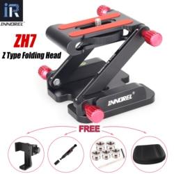 INNOREL ZH7 New Version Aluminum Alloy Z Type Tilt Tripod Head All Metal Flexible Folding Z Pan for Canon Nikon Sony DSLR Camera