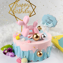 Cake Home Decorations 5 Colors Cute Small Balloon dog Resin Crafts Sculpture Gifts Fashion Party baking Dessert Desktop Ornament