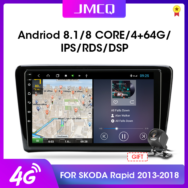JMCQ 2 Din Android 8.1 Car Radio Car Radio Multimidia Video Player For VW Skoda Rapid Santana 2013-2018 Navigation GPS Head Unit