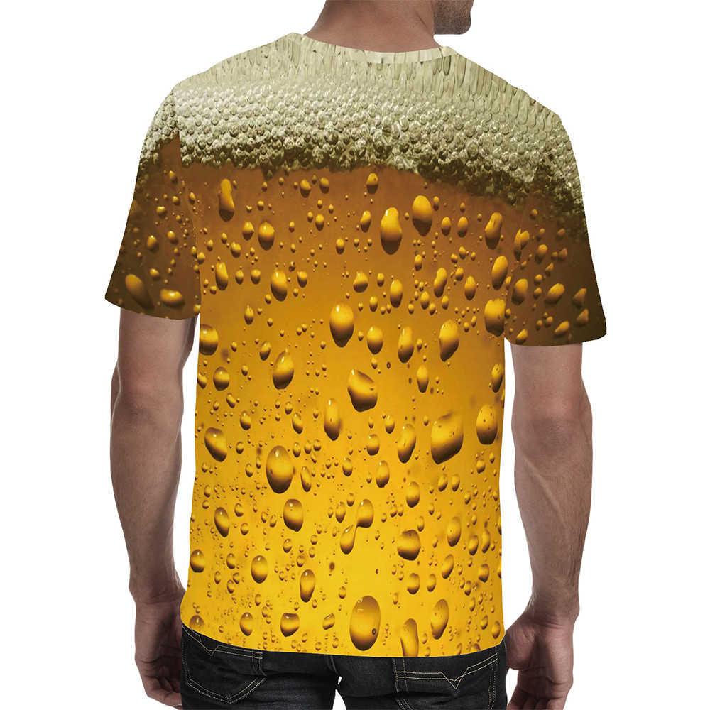 Pria T-shirt Fashion 3D Digital Bir Baru Wanita Pria Kasual Lengan Pendek Tee Tops T-shirt 2020 baru Trendi