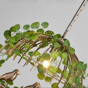 Image 5 - Rétro industriel vent LED pendentif lumière E27 originalité fer Art oiseau Cage lumières luminaire Restaurant barre plante suspension lampe