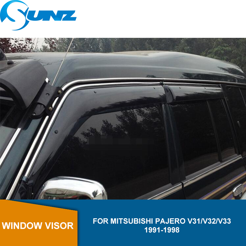 Side window deflector door visor For <font><b>MITSUBISHI</b></font> MONTERO <font><b>PAJERO</b></font> V31/ V32/ V33 / V46 1991 1992 1993 1994 <font><b>1995</b></font> 1996 1997 1998 SUNZ image