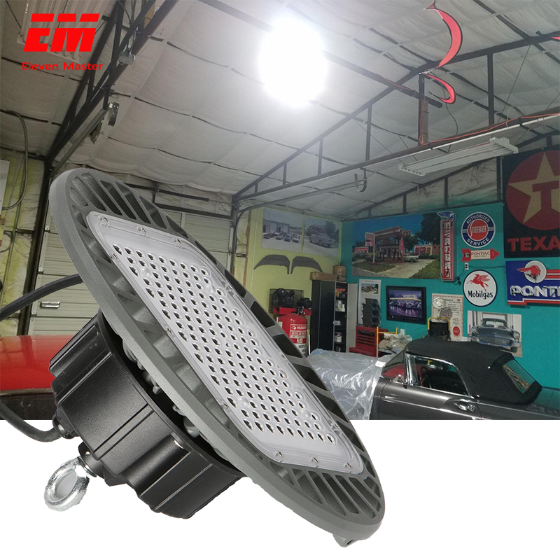 50W-200W Led High Bay Light Waterproof IP65 UFO Warehouse Workshop Garage Industrial Lamp Stadium Market Airport ZDD0019