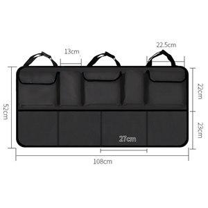 Image 2 - KAWOSEN borsa per bagagliaio per auto di grandi dimensioni per SUV MPV Organizer per sedile posteriore universale accessori per Organizer per seggiolino auto borsa per sedile posteriore CTOB05