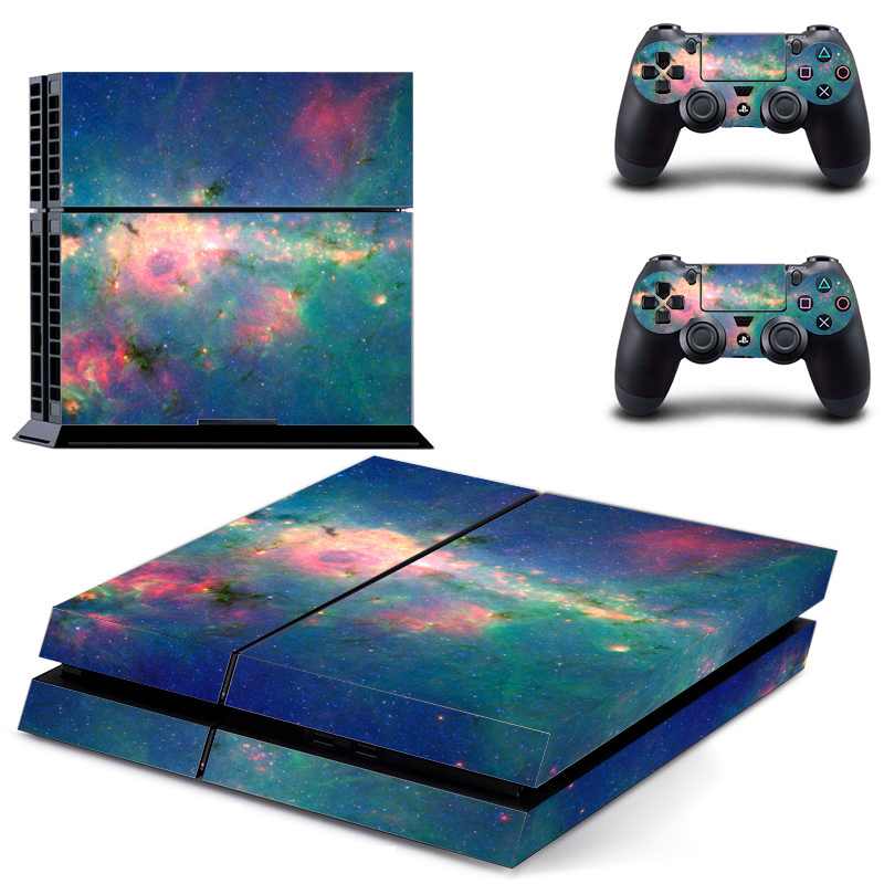 Galaxy For PS4 Vinyl Skin Sticker Cover For PS4 Playstation 4 Console + 2 Controller Decal Game Accessories image
