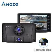 4 IPS Screen Car DVR HD 1080P Dual Lens Auto Video Recorder Registrator 2 Cameras 170 Wide Angle Dash Cam With Rearview Camera