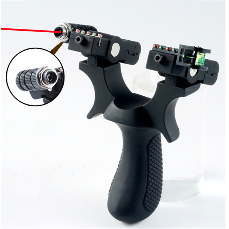 Hunting Slingshot Resin Catapult Laser Sight High Precision Shooting With Rubber Band Outdoor Sports Hunting