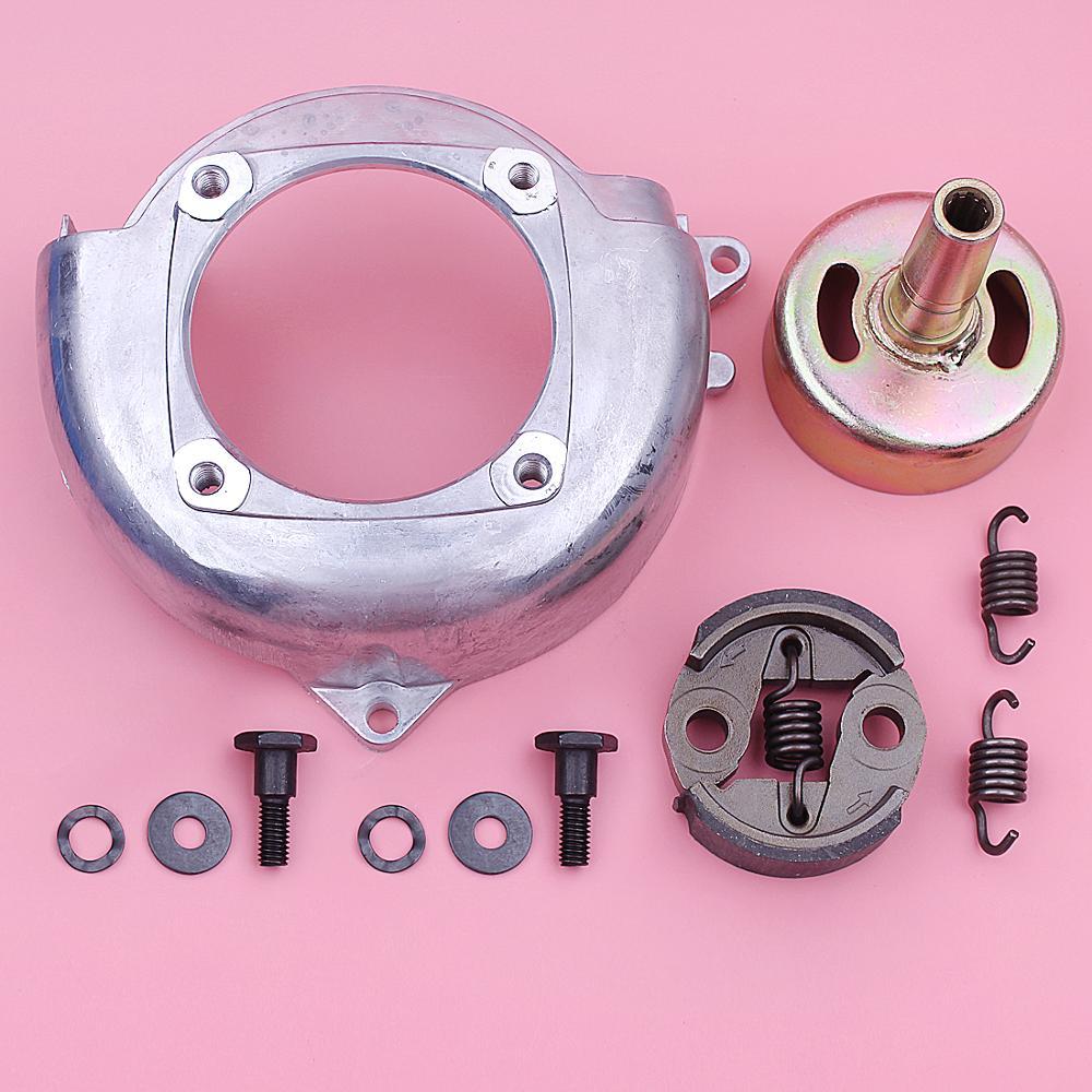 9T Clutch Drum Fan Cover Kit For Honda GX25 Lawnmower Engine Part 19611-Z0H-000, 22000-ZM3-003 Bolt Washer Spring Set