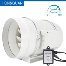 цена на 8'' Ventilation Inline Duct Fan with Variable Speed Controller; EC Motor 200V-240V Exhaust Fans; Speed Controller in 0 to 100%