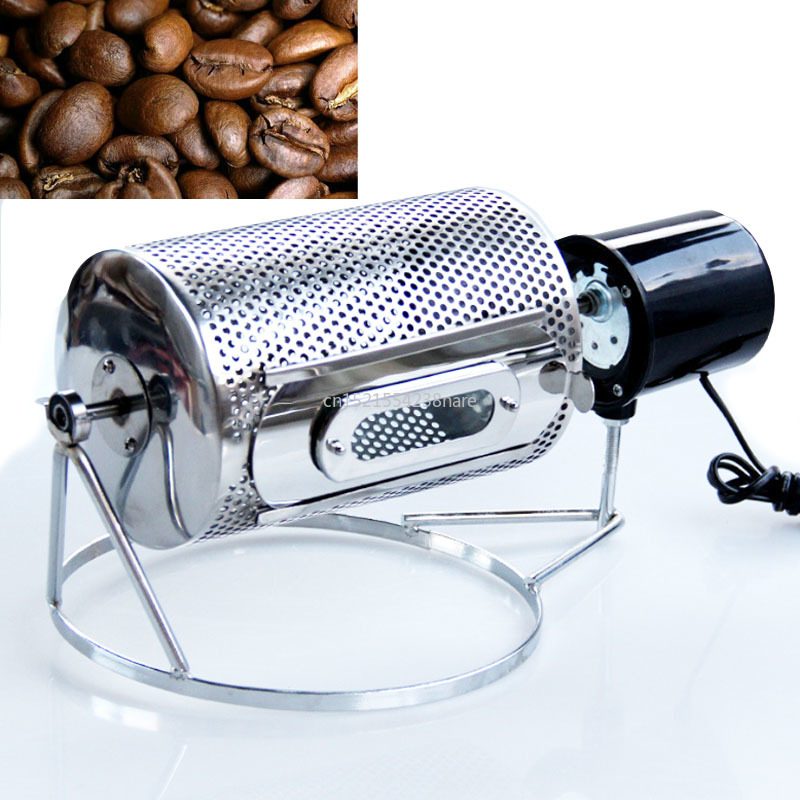 220V /110V Electric Stainless Steel Coffee Roaster Used In Gas Stove Or Electric Stove